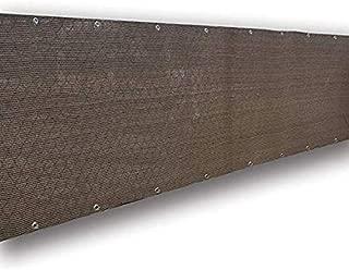 Frilivin Privacy Screen Fence Mesh Windscreen for Backyard Deck Patio Balcony Pool Porch Railing Brown (3'x3'4