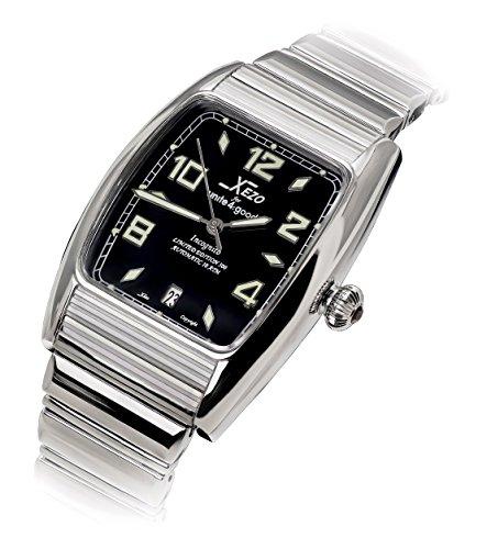 Xezo incognito uomo 10atm resistente all' acqua orologio Tonneau. 9015Miyota movimento automatico. Lussuosa. X-Large Wristband