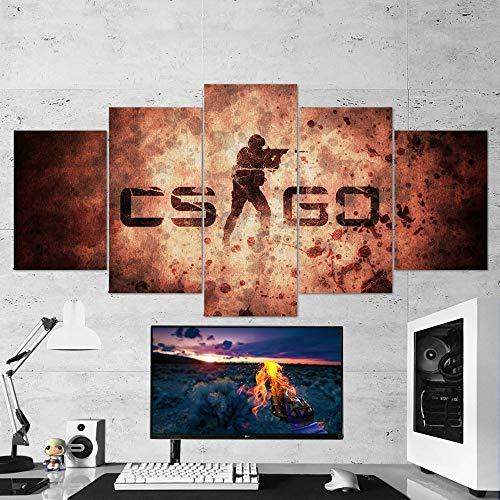 BA-CO Counter Strike Global - Lienzo Decorativo para Pared, diseño de Concha Ofensiva