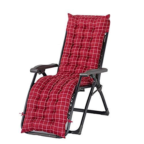 Cojín para tumbona, sillón reclinable con correas antideslizantes para la capucha, almohadilla gruesa para silla cómoda y larga para jardín, patio, interior y exterior vacaciones