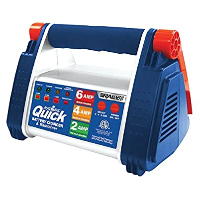 Rally Marine Grade Quick Battery Charger and Maintainer with Microprocessor