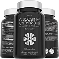 SuperSelf Store Glucosamine Chondroitin MSM with Turmeric (90 Capsules)