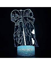 Anime Naruto Uchiha Itachi Uchiha Shisui 3D lamp - Nachtlicht - LED Illusion Night Lamp - Afstandsbediening Slaapkamer Decoratie Tafellamp - Kerstmis verjaardagsgeschenken
