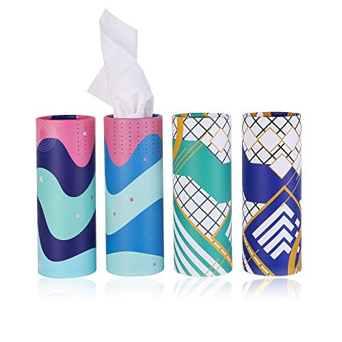 Brandon Super, Car Tissue, Disposable Face Towel, Perfect For Car Cup Holder, Canned Tissue, Durable, Soft And Comfortable (4 Cans / 200 Tissue)3-Ply