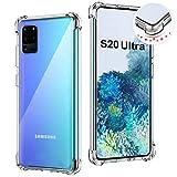 Custodia per Samsung Galaxy S20 Ultra 6.9',Cover Trasparente Protettiva per Galaxy S20 Ultra,Morbida Silicone Sottile TPU Case,Anti Scivolo e Antiurto,Custodie Protezione per Samsung S20 Ultra 5G 2020