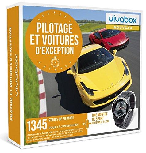 Vivabox - Coffret cadeau sensation- PILOTAGE ET VOITURES D'EXCEPTION-1345 stages + 1 montre de sport
