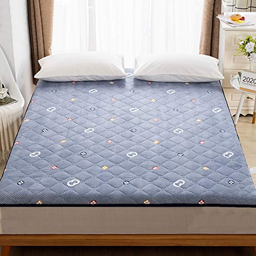 MYYU Tatami Folding Floor Mattress,Student Dormitory Single Adult Mattresses,Japanese Futon Cushion,Futon Mattress Rollable,4,90x200cm