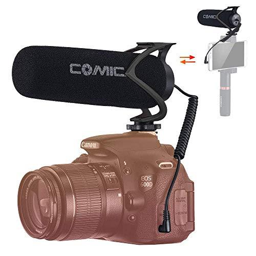 comica CVM-V30 Lite Micrófono Camara Reflex, Micrófono Externo para Camara, Micrófono Condensador Supercardioide para Cámaras Fotográfico, Micrófono DSLR Microfono Smartphone Direccional …