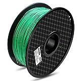 Material: PLA–Color: Verde Artículo Peso: 1kg (aproximadamente 2,20libras) Temperatura de impresión: 190°C–220°C 1,75mm Filamento (+/-0,03mm) 2años de garantía y servicio al cliente 24* 7con técnico Consejo