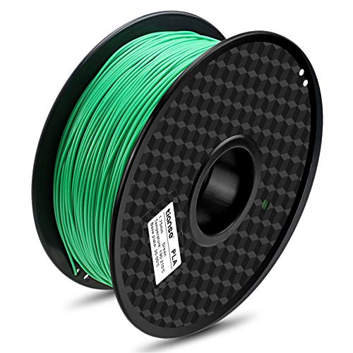 TIANSE Verde filamento PLA per stampanti 3D, 1,75 mm, precisione dimensionale +/- 0,03 mm (2,2 lbs.)