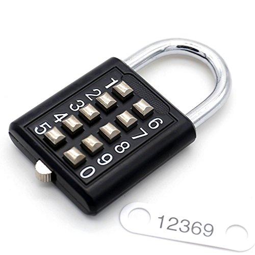 10-cijferige toetsenbord combinatie hangslot 5-posities vergrendelingsmechanisme bit sleutelslot turnhalle kast deur toolbox hangslot gymzaal sport schoolmedewerkers