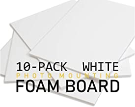 POW Foam Board, White Surface with White Core, 9x12 (10 Boards/Carton)