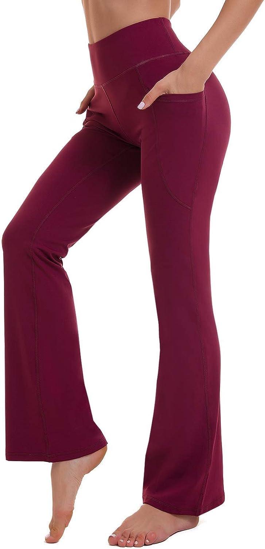 KMISUN Bootcut Yoga Wholesale Pants for Women Special sale item Joggers Leg Pockets Wide Fla