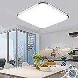 72W Plafon led de techo Regulable 5760LM Plafon LED Techo Cuadrad Iluminación interior para Dormitorio Comedor Cocina Balcón Marco de Aluminio...