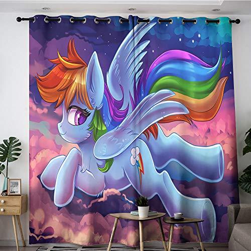 Sdustin My Little Horse - Cortinas opacas para habitación (213 x 137 cm), diseño de anime