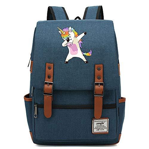 "Robot Rainbow Unicorn Daypack, Mochila de Viaje de la Universidad Adolescente, se Adapta a la Tableta portátil de 15"", Bolsa de Fin de Semana de los niños/niñas 16 Pulgadas. Color-19."