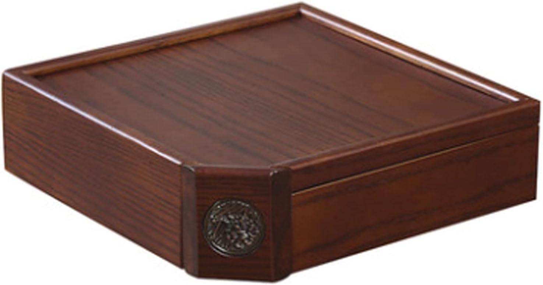 HVKLHNF Philadelphia Mall Solid Wood Elegant Wooden Tea Cake Box S Household Pu'er