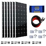 ECO-WORTHY Kit de panel solar monocristalino de 24 voltios, 1000 W, 1 kW, con driver de carga de 60 A