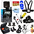 GoPro MAX 360 Action Camera All in 1 PRO Accessory Bundle Includes: Extreme 32GB MicroSD, Head and Chest Strap, Floaty Bobber, Selfie Stick, Carry Case and More by GoPro (Pixel Hub)