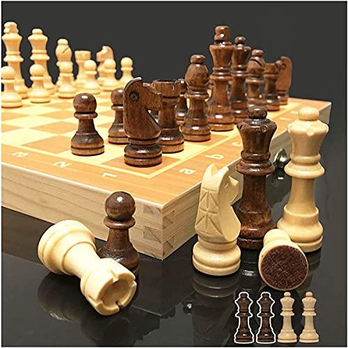 GXY Juego de Ajedrez 4 Reinas Juego de Ajedrez Magnético Juego Piezas de Ajedrez de Ajedrez de Ajedrez Plegable Toy Chess Internacional Ajedrez de Madera,a