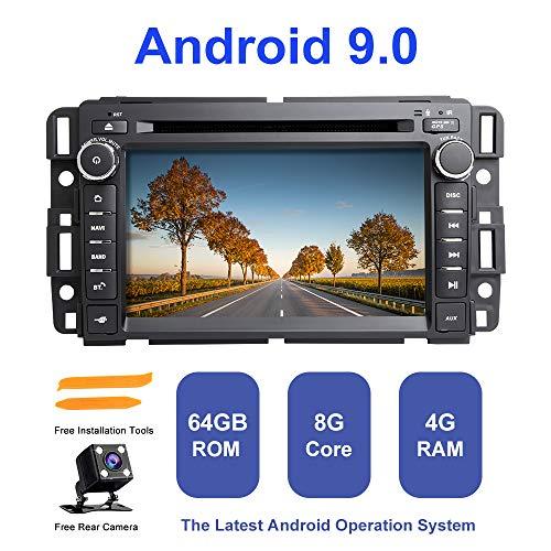 ZLTOOPAI Android autoradio stereo, voor Chevrolet GMC hummer Yukon Acadia Buick Suburban TahoeExpress Android 9,0 Octa Core 4G RAM 64G ROM HD multi-touchscreen auto stereo GPS radio DVD-speler