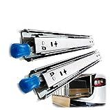 XYNH Cajon Mueble Cocina, Tamaño De 250 mm A 1400 mm, Corredera De Muebles Mesas Guia Extensible, Telescopico para Cajones Riel Rieles Rodamientos Bolas
