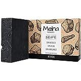 Meina Naturkosmetik - Schwarze Seife mit Aktivkohle ohne Palmöl, Naturseife gegen fettige und...