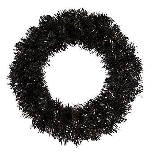 Mogzank Artificial Pine Wreath Black Wreath Garland for Front Door Window Fireplace Christmas Decoration