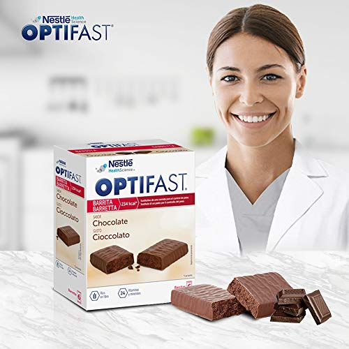 OPTIFAST Barritas Chocolate. Estuche de 6 barritas x 70g