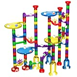 Magicfly Marble Run Set, 127 Pcs Marble Race Track for Kids with Glass Marbles Upgrade Marble Works Set