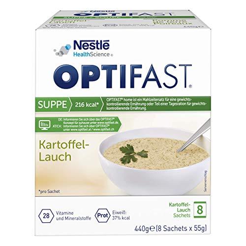 OPTIFAST KONZEPT Diät Suppe Kartoffel Lauch zum Abnehmen | eiweißreicher Mahlzeitenersatz mit wichtigen Vitaminen und Mineralstoffen | schnell zubereitet und lecker im Geschmack | 8 x 55g