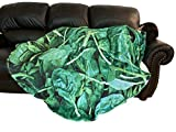 Qualitrusty Spinach Vegetable Plush Blanket - for Adults and Kids, Giant Round Soft Flannel Picnic Blanket, Funny Beach Towel Throw Blanket to Make You Happy Everyday (60 inches)