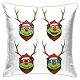 109 TMNT Gang Christmas Antler Head Pillowcase, Double-Sided Printing, Hidden Zip Pillowcase, Beautiful Printed Pattern Pillowcase 18inch18inch