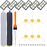 ActFaith Vacuum Cleaner Accessories Replacement Parts Kit Include 1 Set Roller & 6 Hepa Filter & 6 Side...