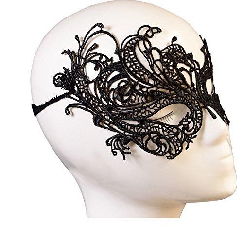 Vococal® Creusé de Découpe Dentelle Sexy Visage Masque Pour Masquerade Party Costumé Noir