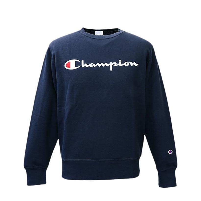 設計図入札天気Champion チャンピオン メンズ クルーネック スウェットシャツ トレーナー C3H004 NVY Mサイズ