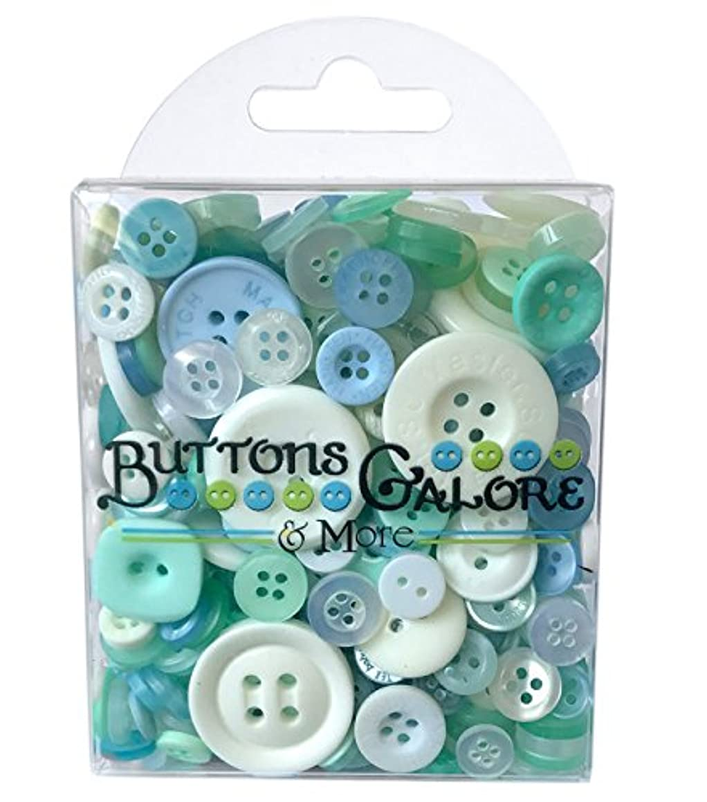 Buttons Galore Hand-Dyed Button, Blue/White