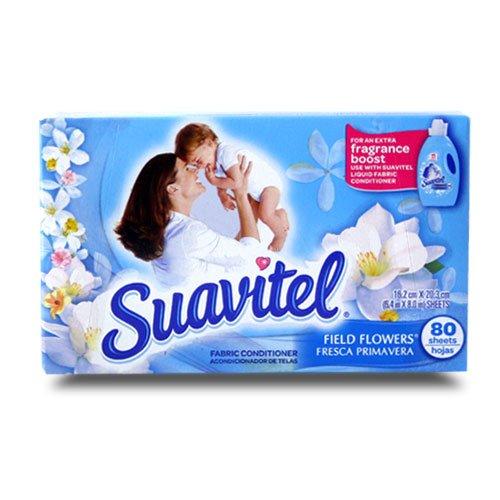 【U.S.SUAVITEL】アメリカ製スアビテル シート柔軟剤 フィールドフラワーの香り 80枚入り