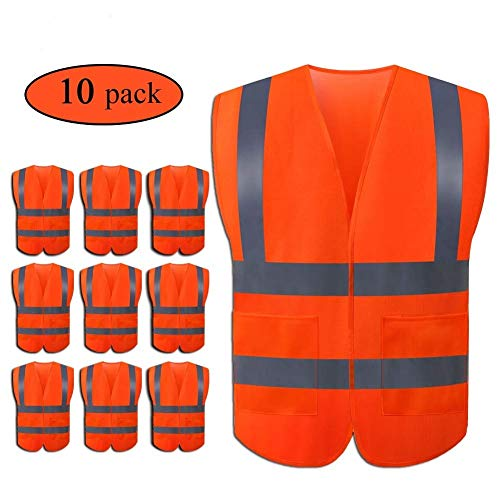 JSungo 10 Pack Multipurpose Safety Vest
