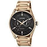 Citizen Men's Drive Quartz Watch with Stainless Steel Strap, Rose Gold, 22 (Model: BU4023-54E)