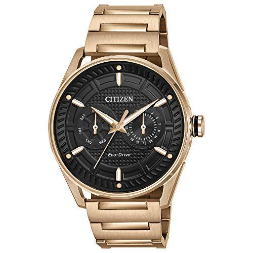 Citizen Reloj de hombre eco-drive correa y caja de acero dorado BU4023-54E