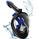 Hieha Snorkel Mask 2020 Upgraded Full Face Snorkeling Mask Safety Breathing System 180° Panoramic Viewing, Anti Fog & Anti Leak Dive...