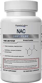 Superior Labs - NAC (N-Acetyl Cysteine) - Dietary Supplement with Selenium - 1,200mg, 150 Vegetable Capsules - Free Radica...