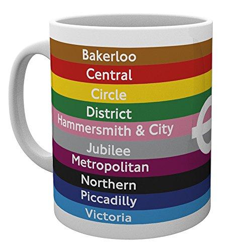 GB Eye Ltd Transport for London, Lignes, Mug, Divers, en CÉRAMIQUE, 15 x 10 x 9 cm