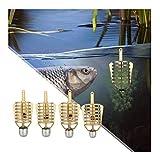 GWFISH Alimentador De Cebo De Pesca Conector De Jaula, 8 Cables De Pesca, Soporte De Alimentador De Cesta, Herramientas De Aparejos De Lanzador De Pesca para Pesca De Carpa