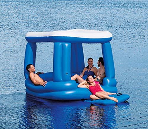 FAFAFA Wasserbett Floating Ocean Park Castle Yacht Zubehör Spielzeug einen Badeanzug und das Essen in der Burg.