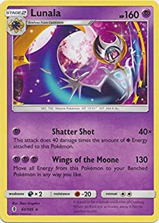 Lunala - 61/145 - Rare - Sun & Moon: Guardians Rising