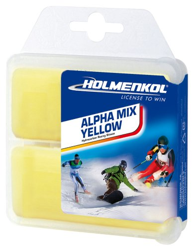Holmenkol Unisex– Erwachsene Alphamix Skiwachs, Yellow, 2X 35 Gramm