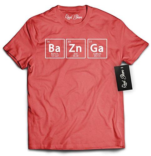 Revel Shore Bazinga Chemical Element Big Bang T-Shirt (X-Large, Red)