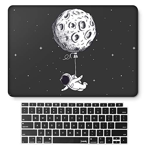 jvomk MacBook Air 13 inch Case 2020 2019 2018 Release A2179 A1932 with Retina Display, Funny Plastic Hard Shell Case & Keyboard Cover for MacBook Air 13 with Touch ID (Floating Moon)